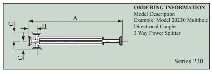 Multihole Directional Couplers Series 230 / 231 - Flann Microwave